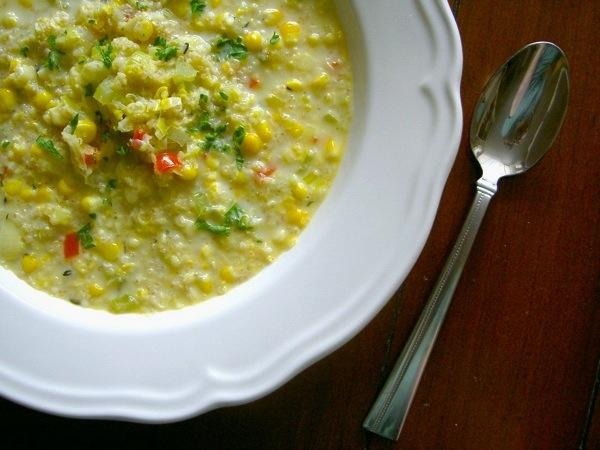 Peruvian Quinoa Corn Chowder