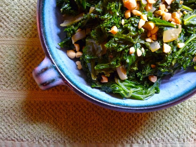 Kale with Tahini Dressing