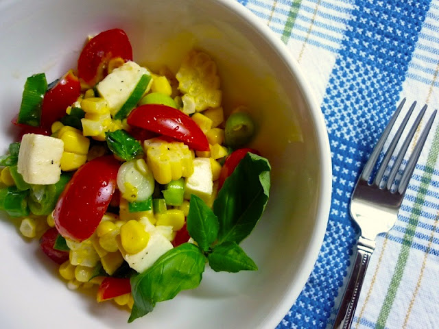 Corn-Tomato Salad with Fresh Mozzarella