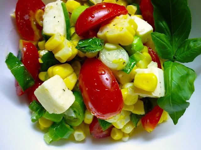 Corn-Tomato Salad with Fresh Mozzarella