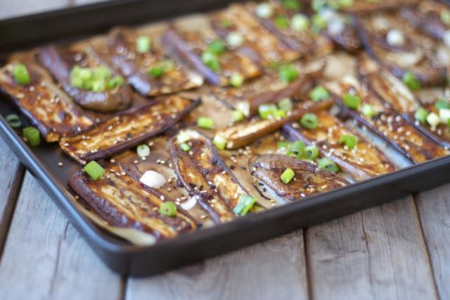 Miso-Glazed Roasted Eggplant