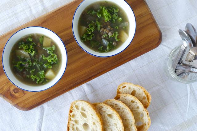 Lemony Kale & Lentil Soup