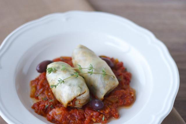Vegan Mediterranean Cabbage Rolls