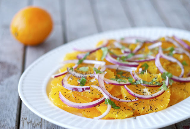Orange Salad with Poppy Seed Dressing