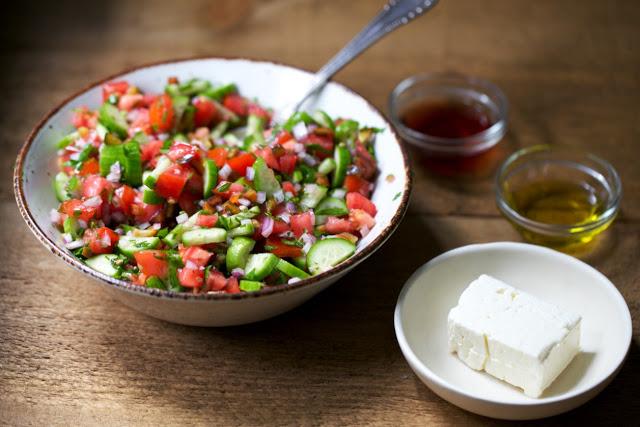 Shopska Salata (Bulgarian Chopped Salad)
