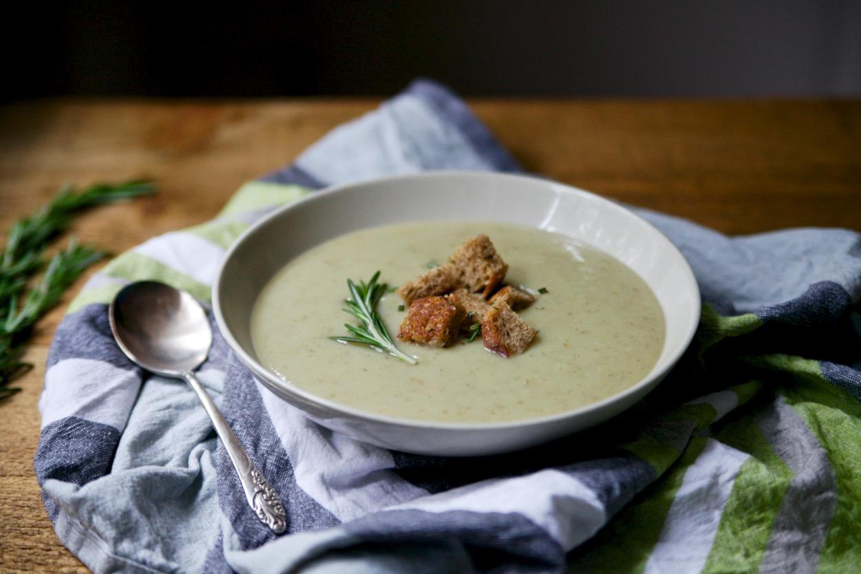 Jerusalem Artichoke & Rosemary Soup