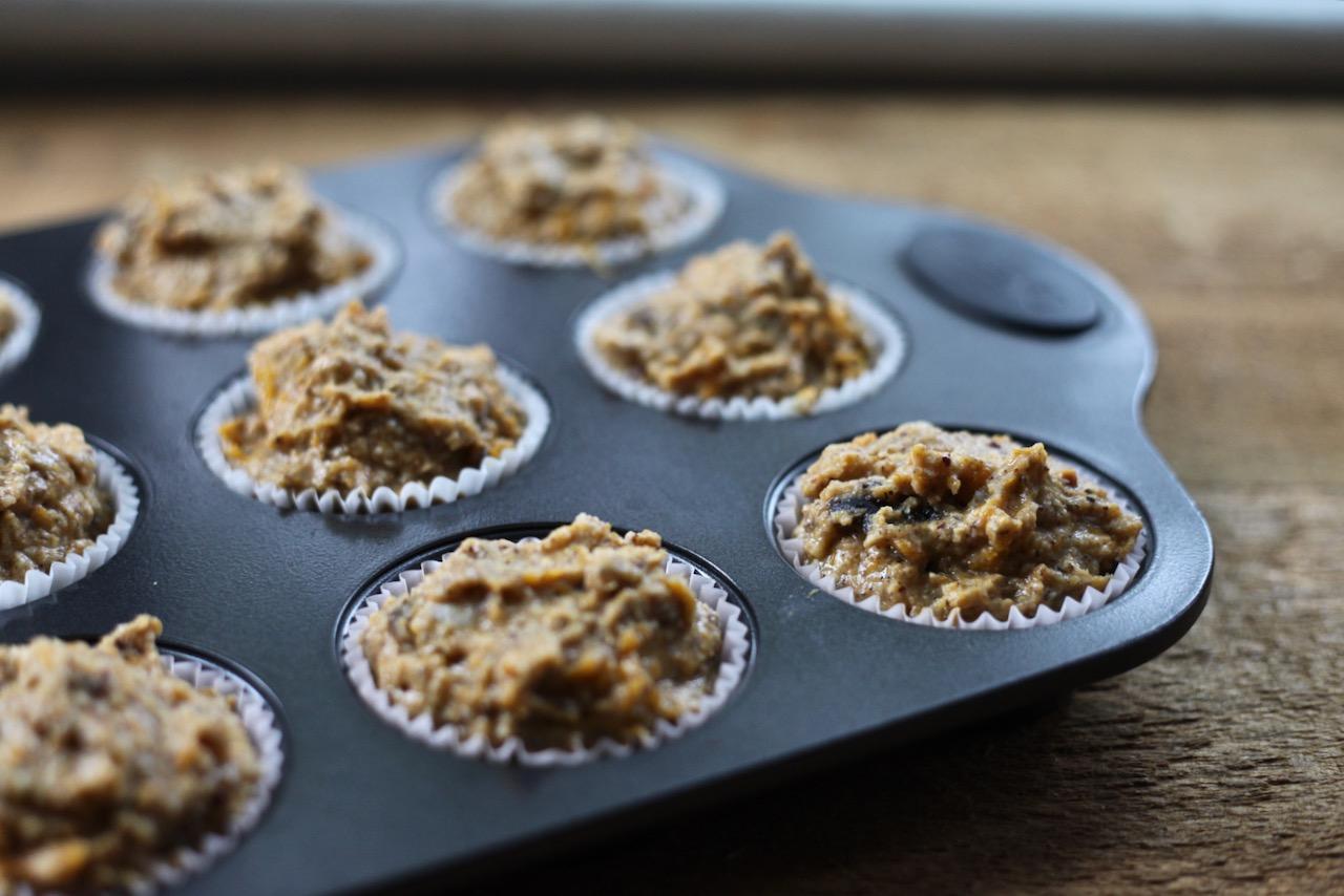 Gluten-free pumpkin hazelnut muffins